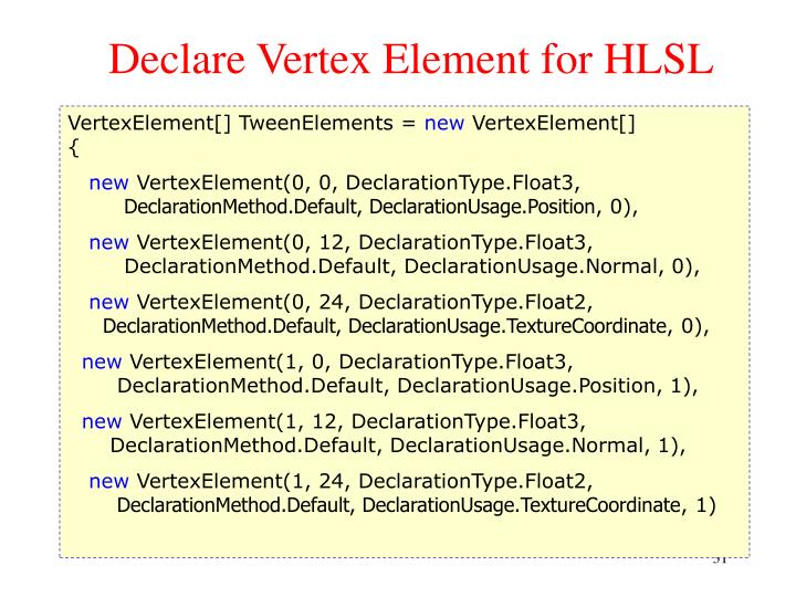 Declare Vertex Element for HLSL