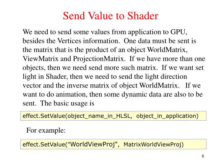 Send Value to Shader