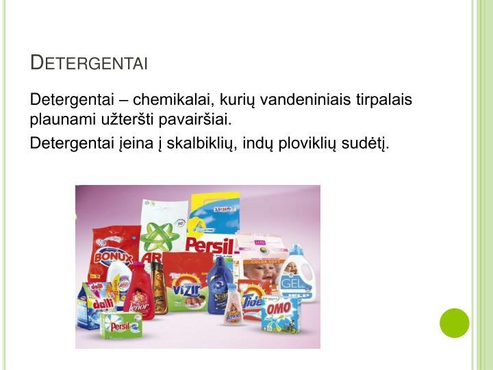 Detergentai