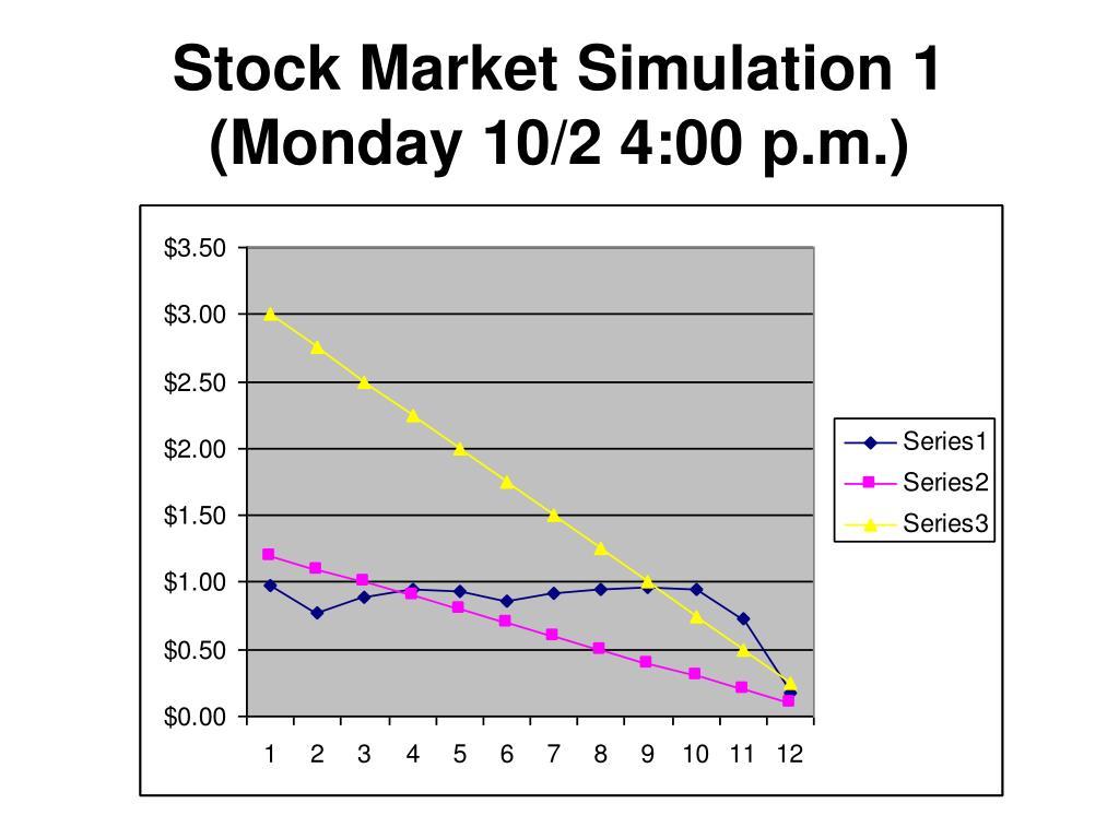 Stock Market Simulation 1 (Monday 10/2 4:00 p.m.)