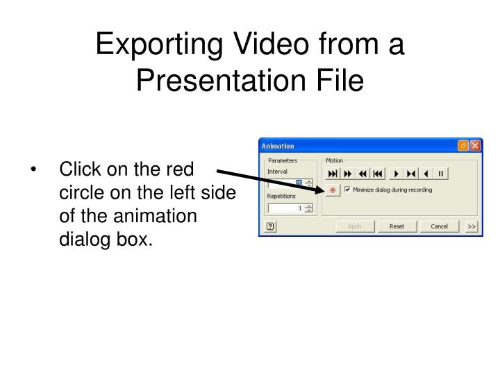 Exporting Video from a Presentation File