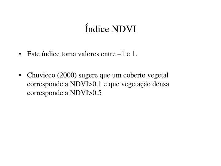 Índice NDVI