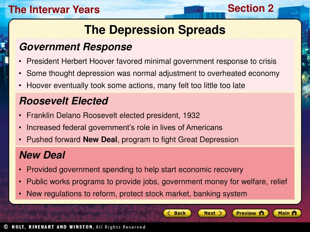 The Depression Spreads