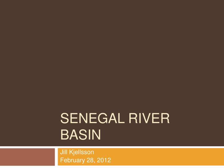 Senegal river basin