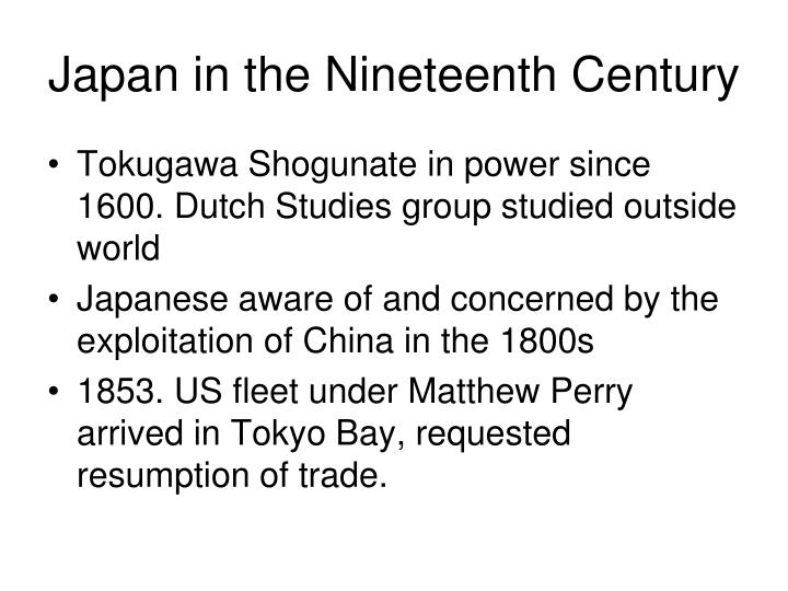 Japan in the Nineteenth Century