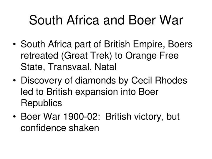 South Africa and Boer War