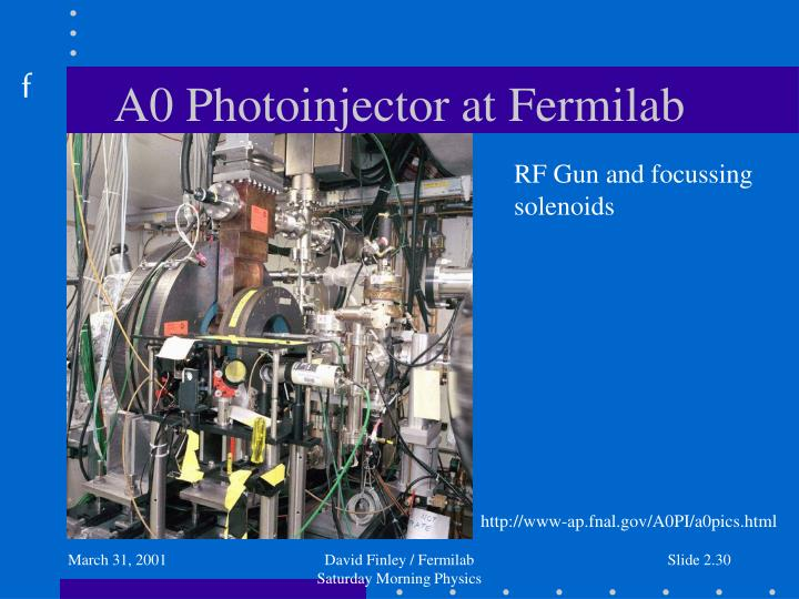 A0 Photoinjector at Fermilab