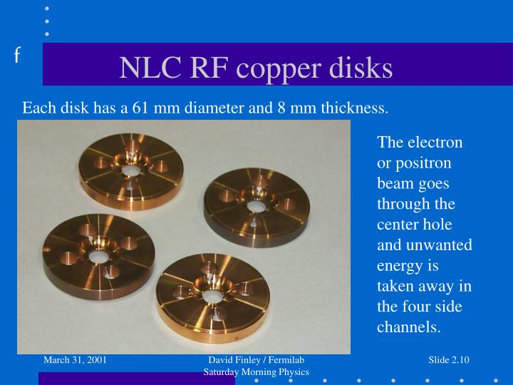 NLC RF copper disks