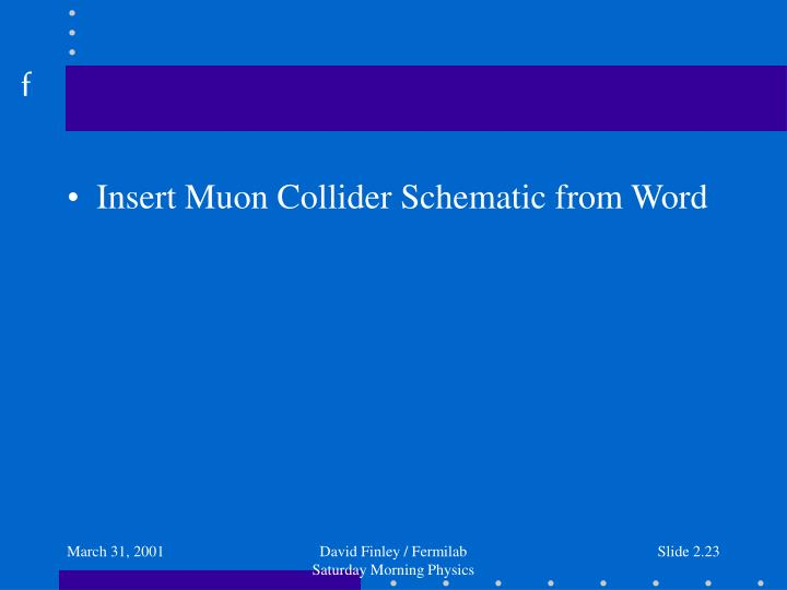 Insert Muon Collider Schematic from Word