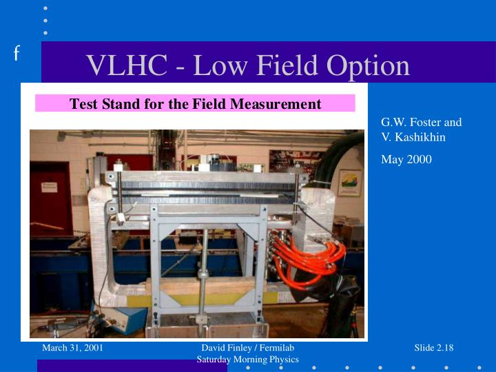 VLHC - Low Field Option