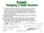 example designing a radio receiver