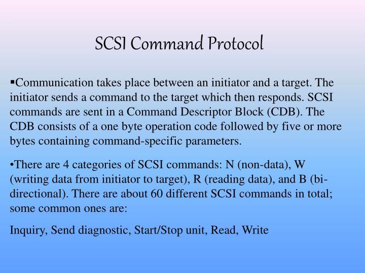 SCSI Command Protocol