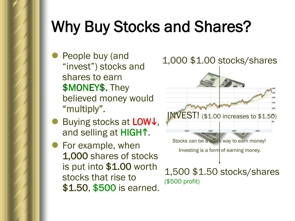 Why Buy Stocks and Shares?