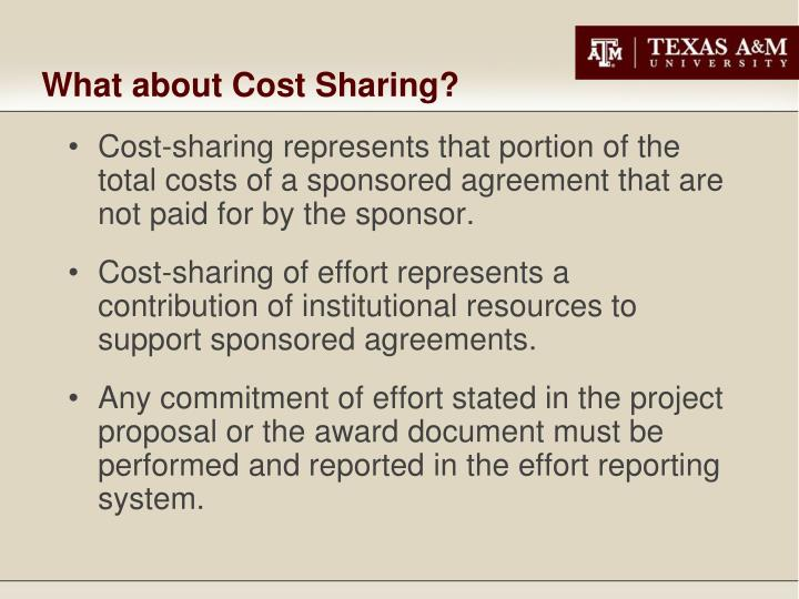 What about Cost Sharing?