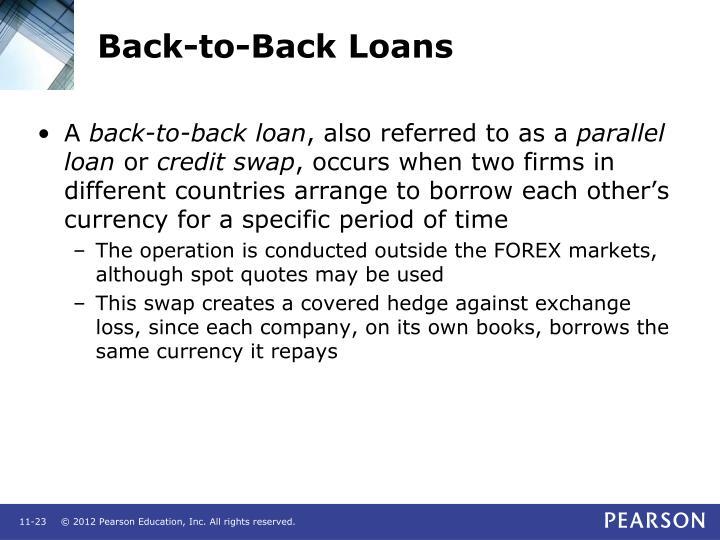 Back-to-Back Loans