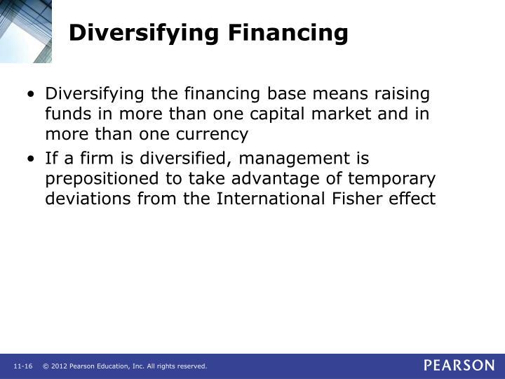 Diversifying Financing