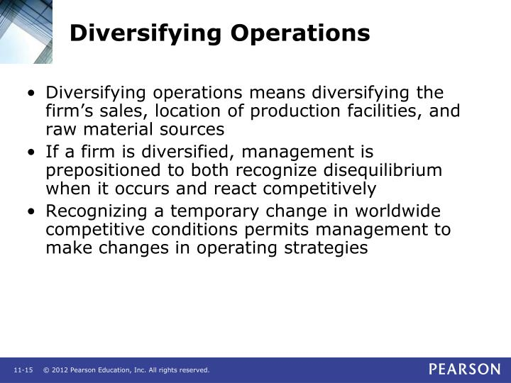 Diversifying Operations
