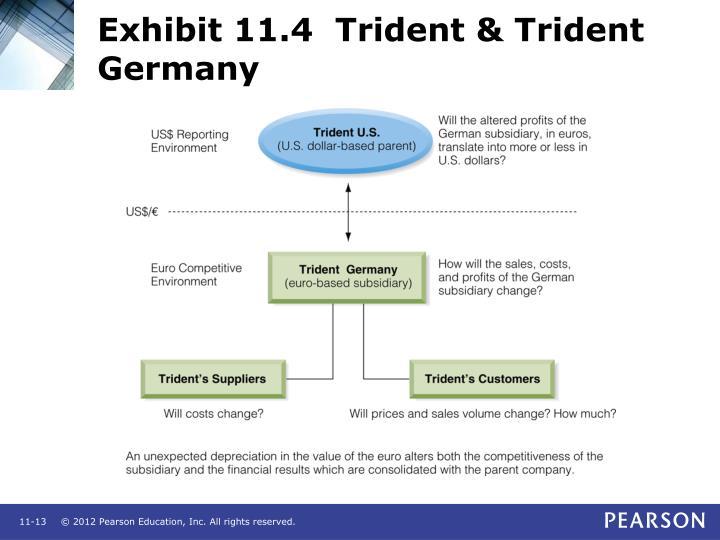 Exhibit 11.4  Trident & Trident Germany