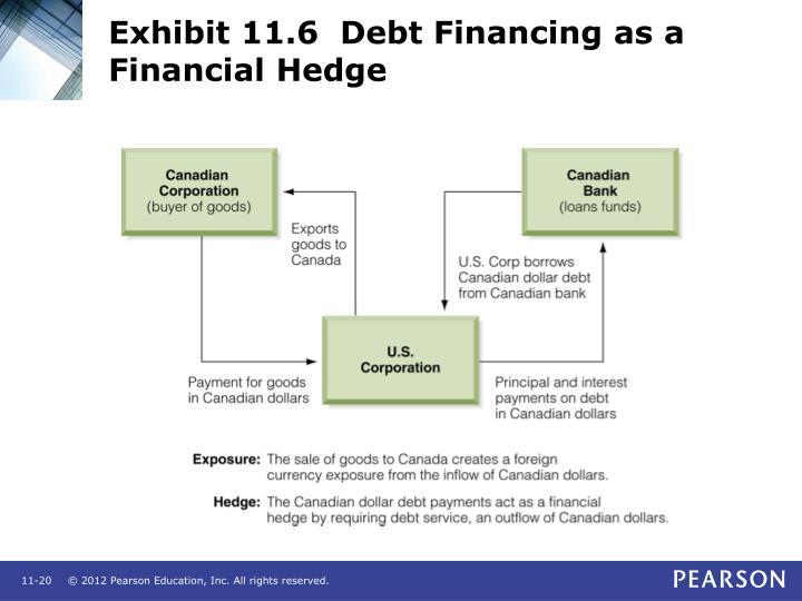 Exhibit 11.6  Debt Financing as a Financial Hedge