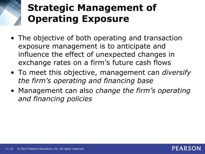 Strategic Management of Operating Exposure