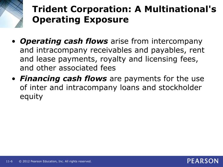 Trident Corporation: A Multinational's Operating Exposure