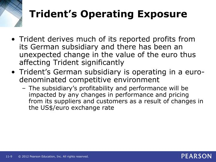 Trident's Operating Exposure