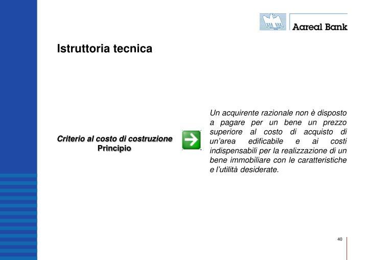 Criterio al costo di costruzione