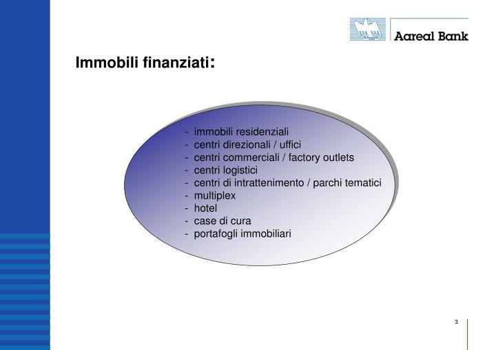 Immobili finanziati