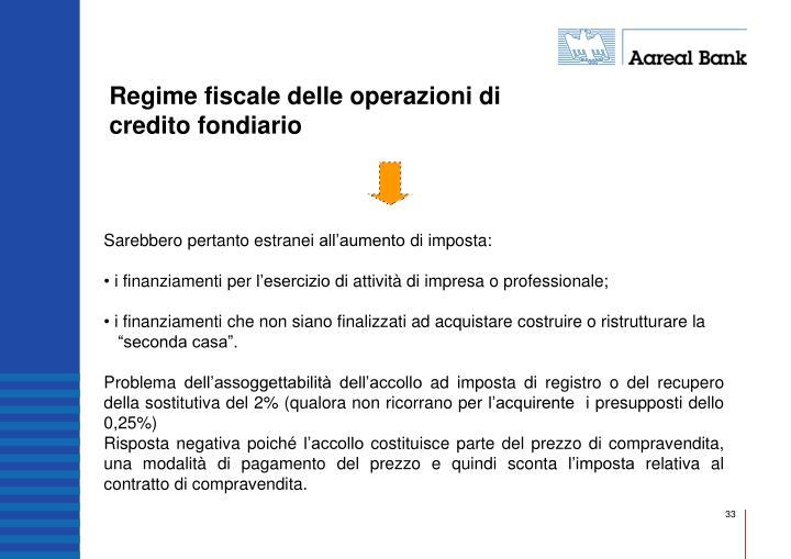 Regime fiscale delle operazioni di