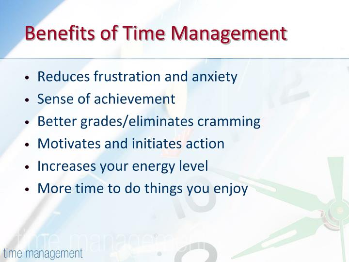 Benefits of time management