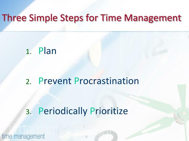 Three Simple Steps for Time Management