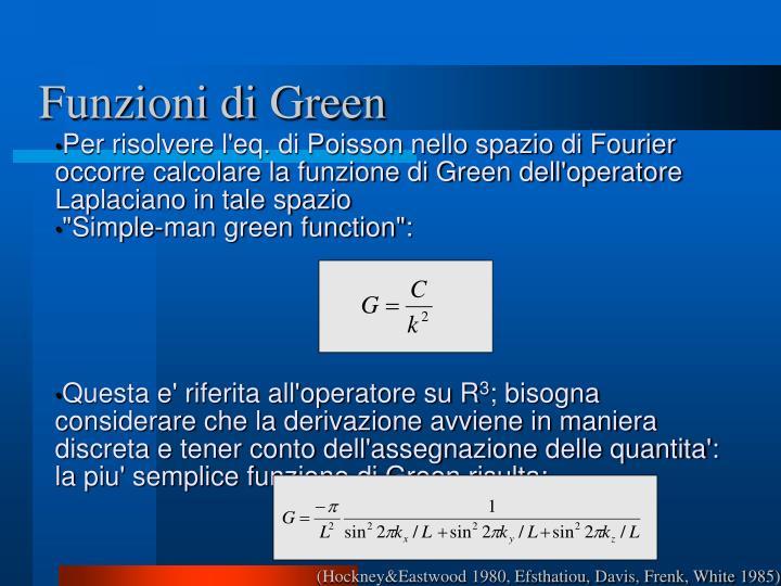 Funzioni di Green