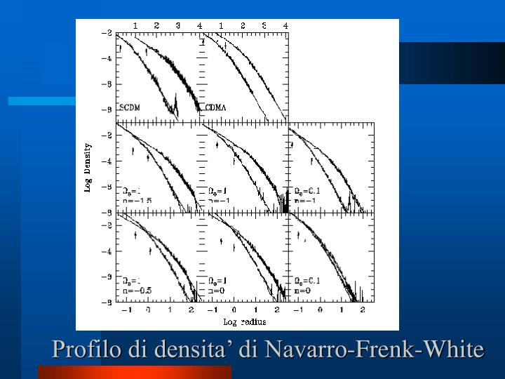 Profilo di densita' di Navarro-Frenk-White