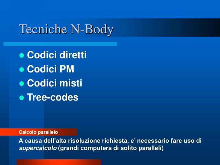 Tecniche N-Body
