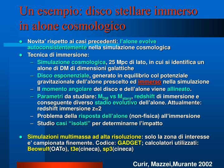 Un esempio: disco stellare immerso in alone cosmologico