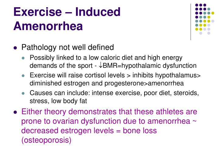 Amenorrhea In Athletes PPT - Chapter 7 PowerP...