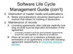 software life cycle management guide con t