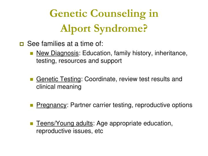 Genetic Counseling in
