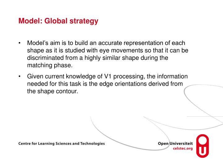 Model: Global strategy
