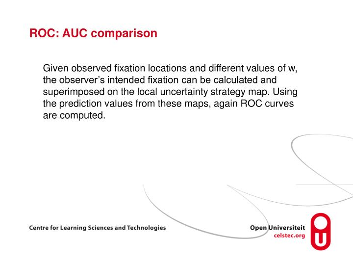 ROC: AUC comparison