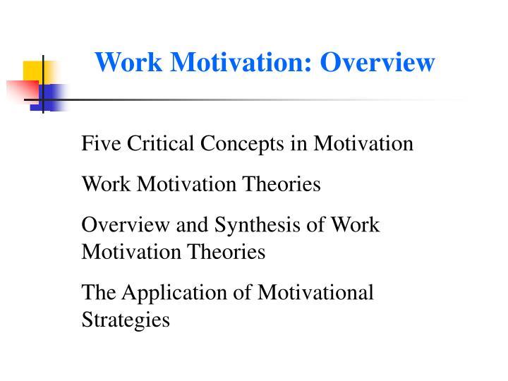 Work Motivation: Overview