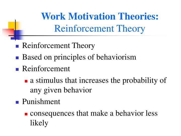 Work Motivation Theories: