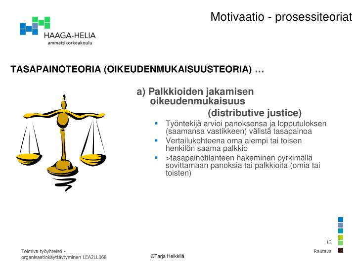 Oikeudenmukaisuusteoria