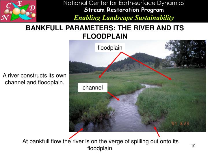 BANKFULL PARAMETERS: THE RIVER AND ITS FLOODPLAIN