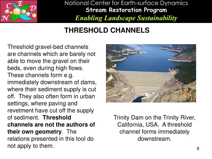 THRESHOLD CHANNELS
