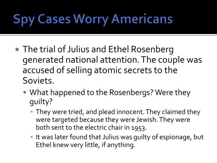 Spy Cases Worry Americans