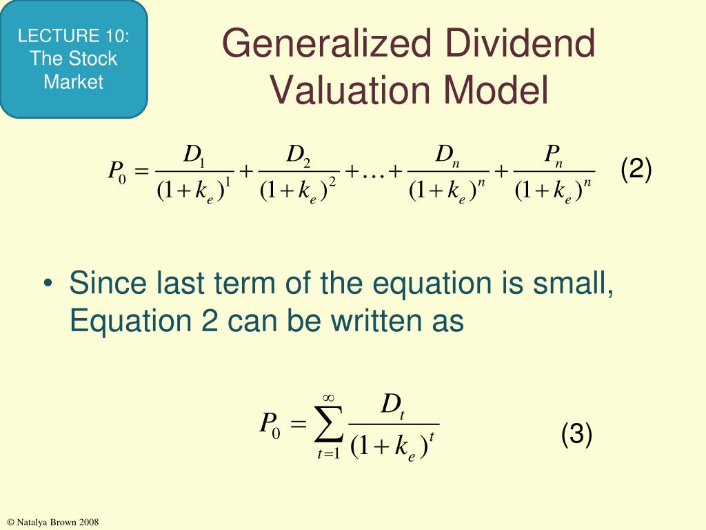 Generalized Dividend Valuation Model