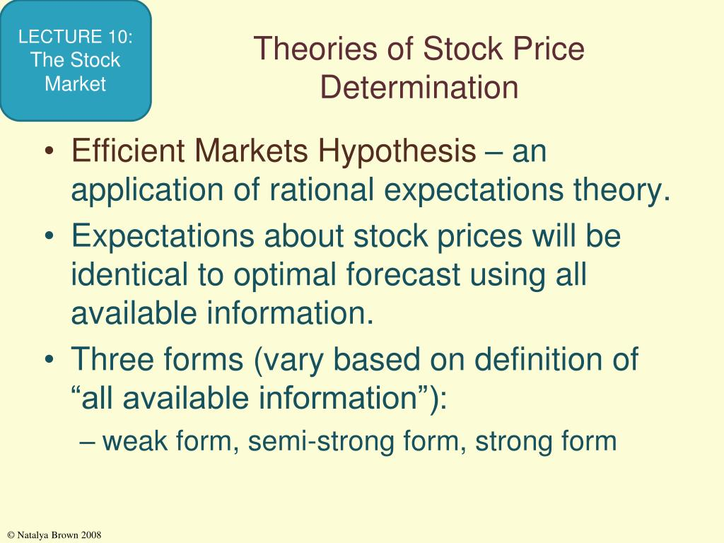 Theories of Stock Price Determination