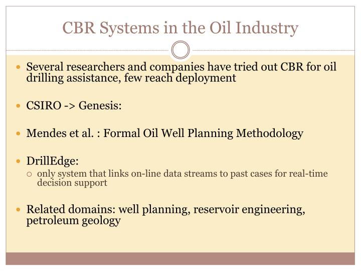 CBR Systems in the Oil Industry