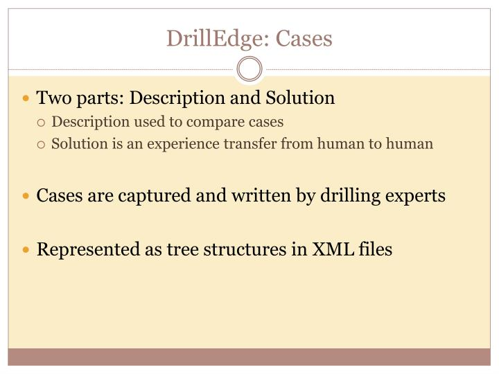 DrillEdge: Cases